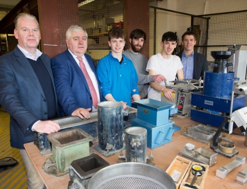 ICF Presents Laboratory Equipment for testing of concrete to Cork Institute of Technology